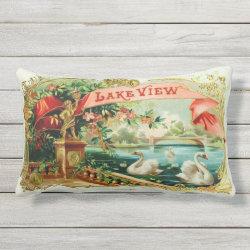 Vintage Cigar Box Label Lumbar Pillow