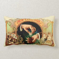 Vintage Cigar Box Label Lumbar Pillow
