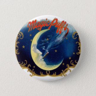 Vintage Cigar Box Label Magic Puff Pinback Button