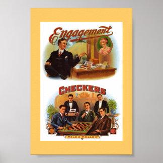 Vintage Cigar Boxes Poster