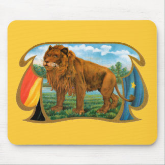 Vintage Cigar Label Art, African Lion in Savannah Mouse Pad