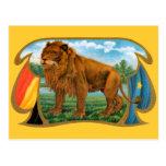 Vintage Cigar Label Art, African Lion in Savannah Postcard