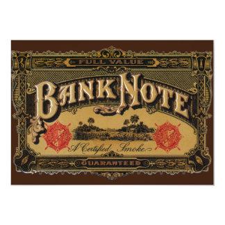 Vintage Cigar Label Art, Bank Note Finance Card