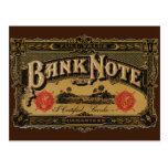 Vintage Cigar Label Art; Bank Note Finance Postcards