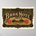 Vintage Cigar Label Art; Bank Note Finance Print