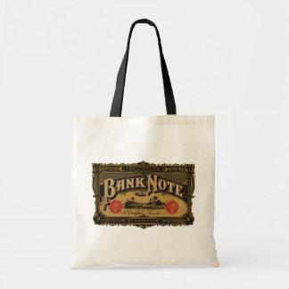 Vintage Cigar Label Art, Bank Note Finance Tote Bag