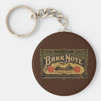 Vintage Cigar Label Art, Bank Note Money Finance Keychain