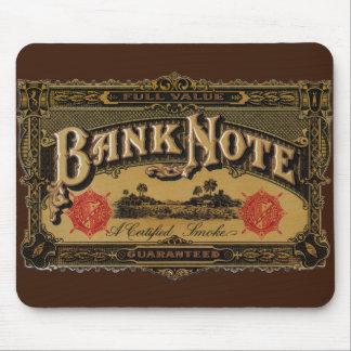 Vintage Cigar Label Art, Bank Note Money Finance Mouse Pad
