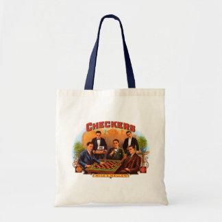 Vintage Cigar Label Art, Checkers Cigars Friends Budget Tote Bag