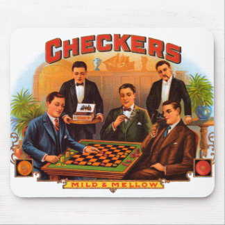 Vintage Cigar Label Art, Checkers Mild and Mellow Mouse Pad