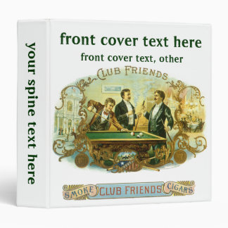 Vintage Cigar Label Art, Club Friends Billiards Binder