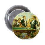 Vintage Cigar Label Art, Club Friends Billiards 2 Inch Round Button