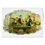 Vintage Cigar Label Art, Club Friends Billiards Card