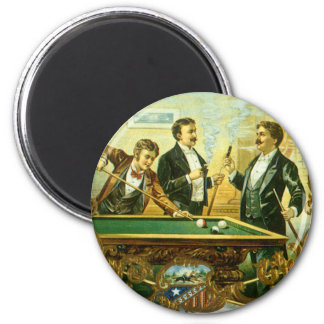 Vintage Cigar Label Art, Club Friends Billiards Magnet