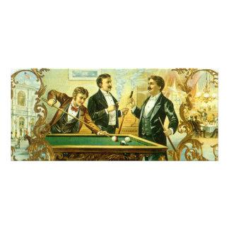 Vintage Cigar Label Art, Club Friends Billiards Rack Card