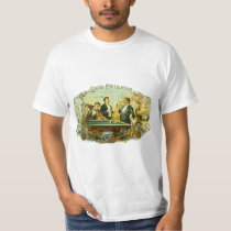 Vintage Cigar Label Art, Club Friends Billiards T-Shirt