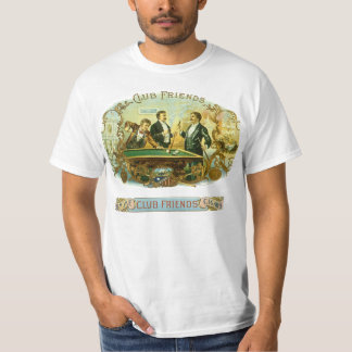 Vintage Cigar Label Art, Club Friends Billiards T Shirts