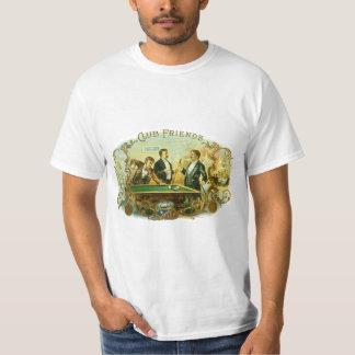 Vintage Cigar Label Art, Club Friends Billiards Tshirts