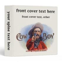 Vintage Cigar Label Art, Cowboy Hits the Mark Binder