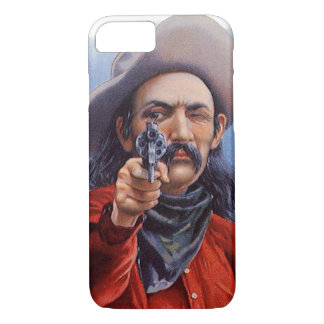 Vintage Cigar Label Art, Cowboy Hits the Mark iPhone 7 Case