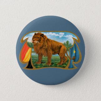 Vintage Cigar Label Art, Lion, King of the Jungle Button