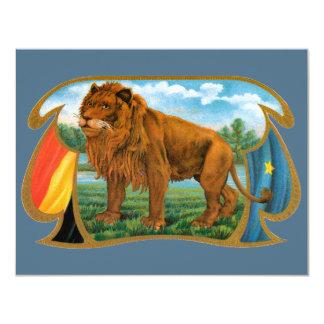 Vintage Cigar Label Art, Lion, King of the Jungle Card