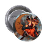 Vintage Cigar Label Art; Moon with Victorian Fairy Pin