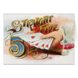Vintage Cigar Label Art Straight Flush with Hearts Card