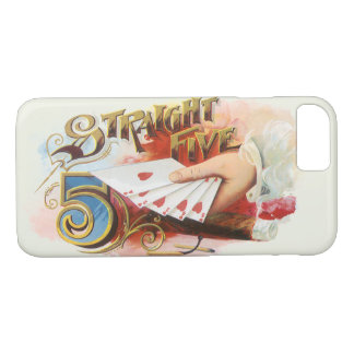 Vintage Cigar Label Art Straight Flush with Hearts iPhone 8/7 Case