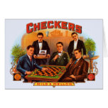 Vintage Cigar Label; Checkers Cigars Greeting Cards