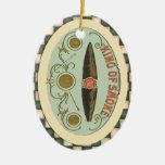 Vintage Cigar Label King of Smoke Ornaments