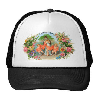 Vintage Cigar Label La Palmiera, Woman with Angels Trucker Hat