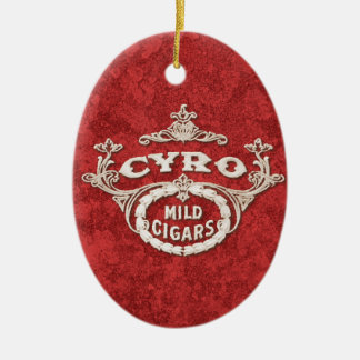 Vintage Cigar Label Retro Ad Logo Ceramic Ornament