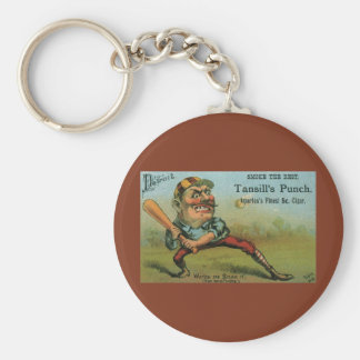 Vintage Cigar Label, Sports Baseball Tansill Punch Keychain