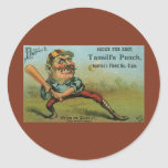 Vintage Cigar Label, Sports Baseball Tansill Punch Stickers