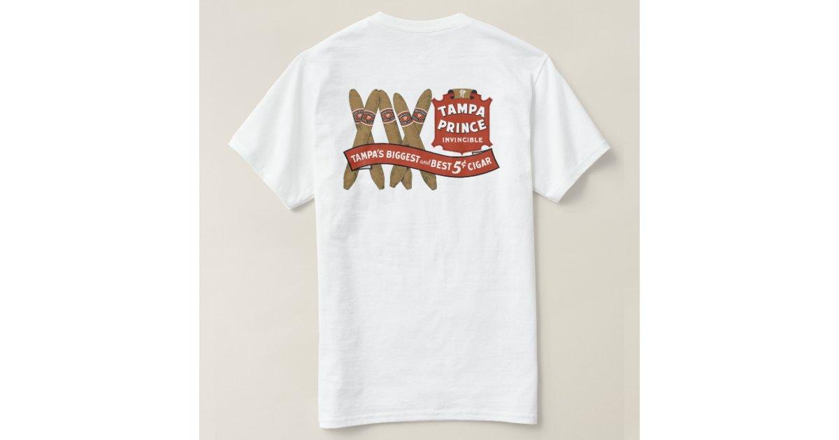 Vintage cigar label tampa prince t shirt zazzle for Tampa t shirt printing