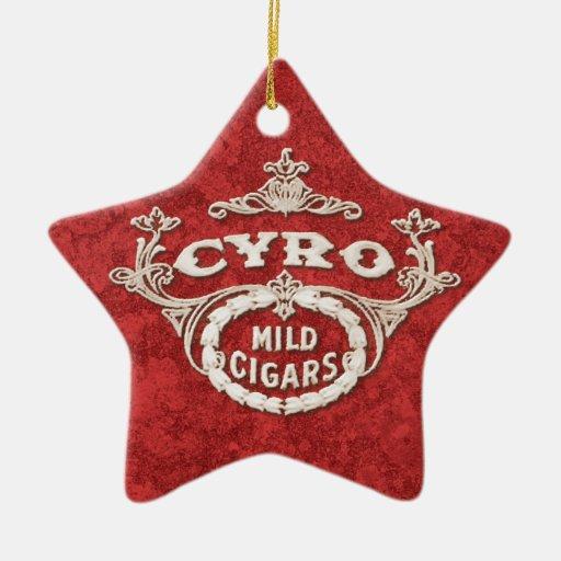 Vintage Cigar Label Tobacco Ad Logo Ceramic Ornament