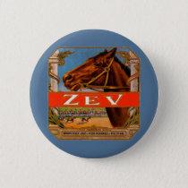 Vintage Cigar Label, Zev Race Horses Brown Colt Pinback Button