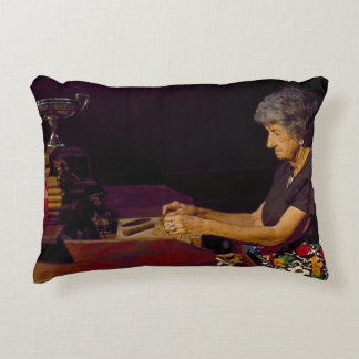 Vintage Cigar Rolling 1980 Accent Pillow
