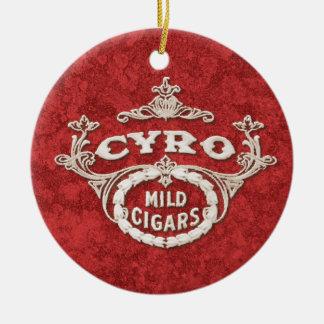Vintage Cigar Tobacco Label Ad Logo Ceramic Ornament