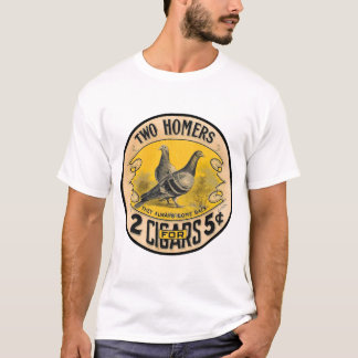 Vintage Cigars Two Homers for 5 Cents Label T-Shirt