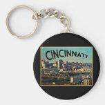 Vintage Cincinnati Skyline Key Chain