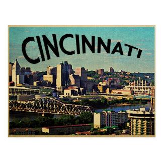 Vintage Cincinnati Skyline Postcard
