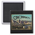 Vintage Cincinnati Skyline Refrigerator Magnet