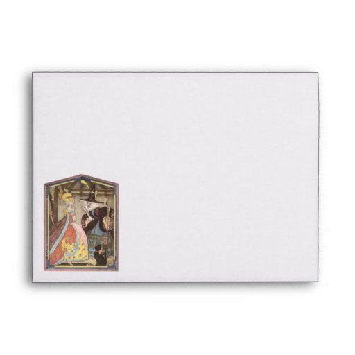 Vintage Cinderella and Fairy Godmother Fairy Tale Envelope