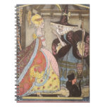 Vintage Cinderella and Fairy Godmother Fairy Tale Spiral Note Books