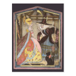 Vintage Cinderella and Fairy Godmother Fairy Tale Post Cards