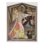Vintage Cinderella and Fairy Godmother Fairy Tale Posters