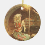 Vintage Cinderella and Fairy Godmother Ornament