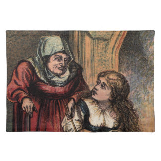 Vintage Cinderella and her Fairy Godmother Cloth Placemat